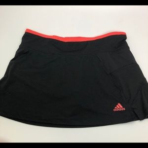adidas climacool black orange tennis skort size S